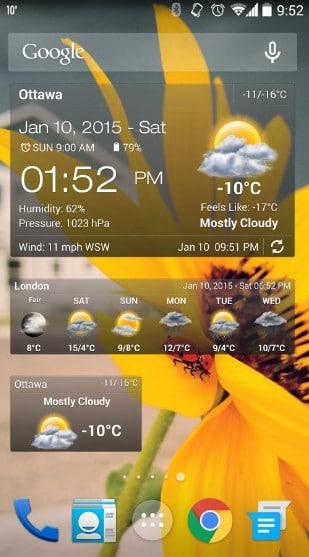 weather widget - best weather widgets for Android - Best Android Weather Apps - Best Weather Widgets for Android