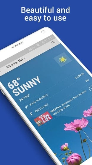 the weather channel - best weather widgets for Android - Top 8 Best Weather Widgets for Android with Lesser Battery Drains