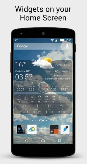 weather live - weather widgets for Android - Best Android Weather Apps - Best Weather Widgets for Android