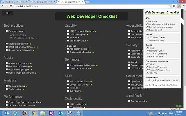 web-developer-checklist - Best Chrome Extensions - Best Chrome Extensions for Developers to Simplify Complex Task