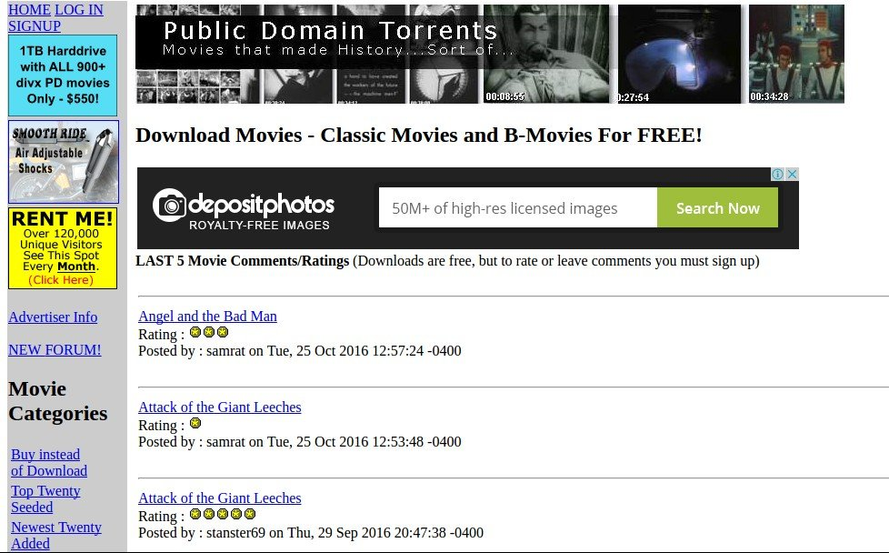 public_domain_torrents - Free Movie Sites - Top 10 Free Movie Sites to Legally Watch Full Length Movies Online Free