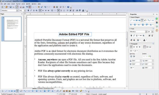 apache-openoffice-draw - 10 Best PDF Editors to Edit PDF Files