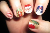 7 Simple Yet Attractive Christmas Nail Art Ideas and Designs for Holidays