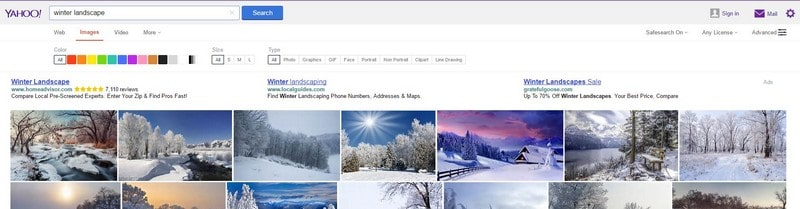How to Find Custom Sized Images on Yahoo - Yahoo Image Search Tips Tricks to Search Custom Size Pictures on Yahoo