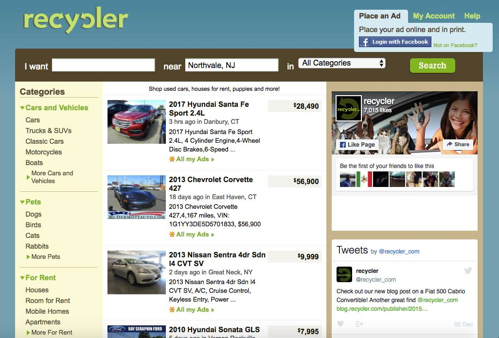 recycler_result - Other Sites Like Craigslist: Top 10 Best Free Online Classifieds Sites Similar to Craigslist