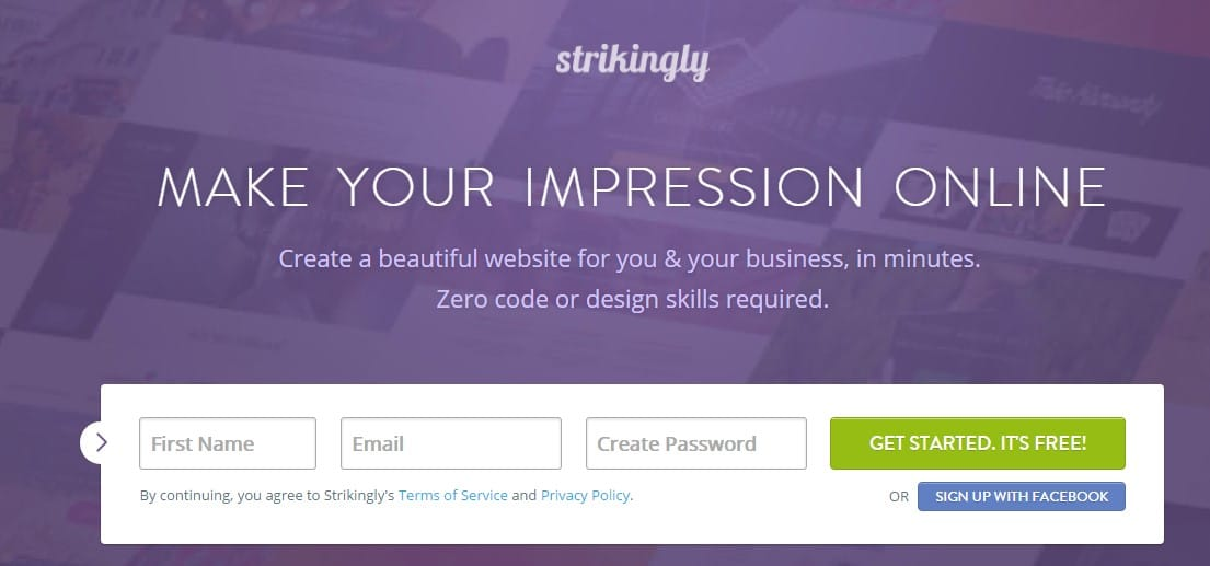strikingly - Sites Like Tumblr: Top 10 Best Sites Like Tumblr to Start Blogging for Free