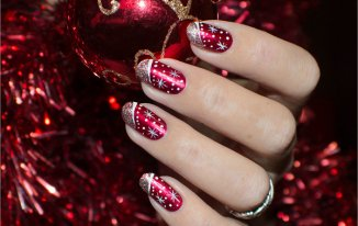Twinkle Twinkle - Best Christmas Nail Art Ideas and Designs -7 Simple Yet Attractive Christmas Nail Art Ideas for Holidays