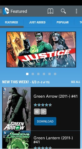 DC Comics - best comic apps for Android - Comic Book Reader App - Comic Book App for Android - Best Android Comic Book Reader Apps