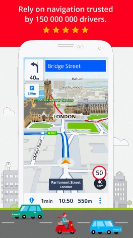 sygic - maps and navigation - navigation apps for Android - Top 9 Best Free Navigation Apps for Android - best apps for navigation
