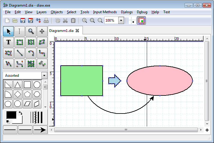 dia - Best Alternatives to Visio - Free Visio Alternatives Diagramming Software for Windows